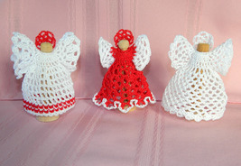 """4"""" Crocheted Clothespin Angel - All White - $12.50"""