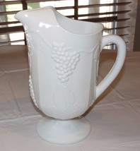 Unbranded Milk Glass Harvest Grapevine Grape Pattern Vintage Ice Lipped ... - $37.41