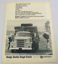 1966 Print Ad Dodge Job-Rated Trucks Bales of Hay Loaded on Farm - $12.55