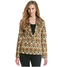 Evan Picone Women's size 6 Blur Print One-Button Blazer Jacket - $19.47