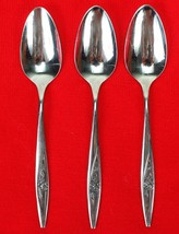 3X Teaspoons Oneidacraft Deluxe Lasting Rose Stainless Glossy Flatware 6... - $28.71