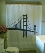 Printed Shower Curtain Golden Gate bridge San Francisco bay America Cali... - $90.00
