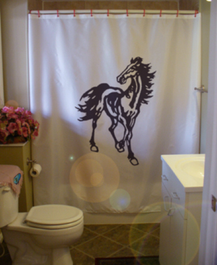 Primary image for Printed Shower Curtain horse stallion mane gallop running epona equine beauty