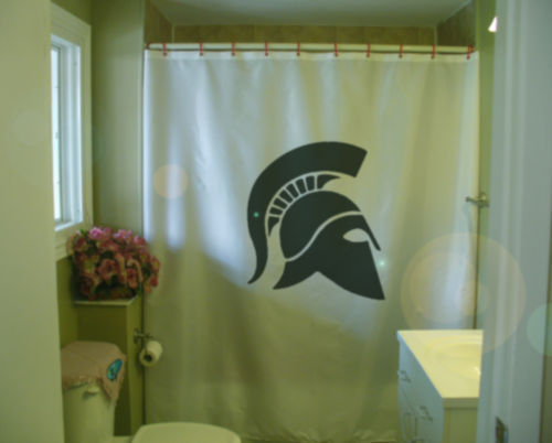 Primary image for Shower Curtain ancient greek helmet profile Sparta army