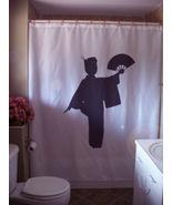 Shower Curtain geisha lady fan Japan Japanese companion - $64.99