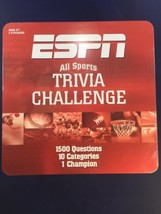 ESPN All Sports Trivia Challenge Board Game In Tin USAopoly 1500 Questions - $29.02