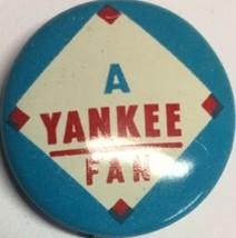 1960s Vintage NY New York Yankees Baseball 3/4 Inch Pin Pinback MLB Crane Blue - $12.82