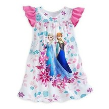 Disney Store Frozen Exclusive Anna and Elsa Nightshirt Nightgown Sz 4 - $24.99