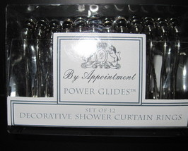 Twelve Decorative Shower Curtain Rings Power Glides by Appointment New - $11.00