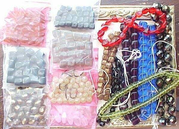 Primary image for 14 Asst Strands Large Czech Glass Beads Huge Lot Junk Gypsy Boho Jewelry Making