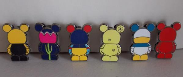 Disney Vinylmation Lot Of 6 Collectible Trading Pins Free Shipping