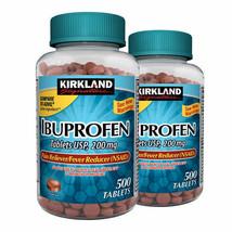 NEW Kirkland Signature Ibuprofen 200 mg., 1,000 Tablets FREEE SHIPPING - $17.99
