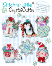 Stitch A Little: Crystal Critter Chartpack christmas cross stitch Brooke's Books - $10.80