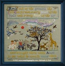 Adam's Menagerie animal cross stitch chart Tempting Tangles - $13.50