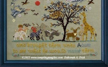 Adam's Menagerie animal cross stitch chart Tempting Tangles