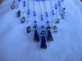 Dark and Light Blue Swarovski crystal choker - $47.00