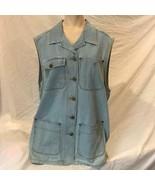 Liz Claiborne Lizwear Denim Button Front Jacket Blazer Size L - $9.89