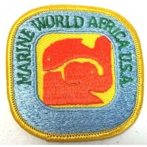 Vintage Marine World Africa USA Patch New Old Stock NOS Embroidered Rare - $19.75