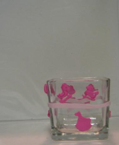 Light and Dark Pink  Baby Polymer Clay Changing Table Cube 2