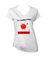 LA TOMATINA FESTIVAL VALENCIA  SPAIN - NEW WHITE COTTON LADY TSHIRT - $19.53