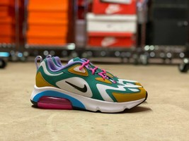 Nike Air Max 200 Womens Shoes Mystic Green White Gold (AT6175-300) NEW M... - $89.09