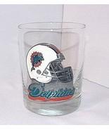 Miami Dolphins Barware NFL Metal Helmet Logo Glass Emblem 1997-2012 Tumb... - $16.78