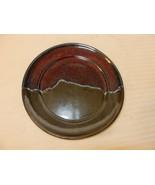 "Stoneware Dessert Plate 2 Tone Green and Burgundy 7"" Diameter - $14.85"