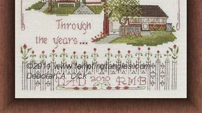 Across The Miles cross stitch chart Tempting Tangles
