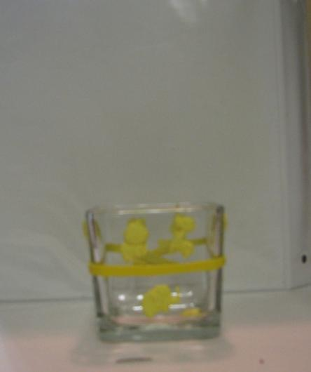 Yellow Baby Polymer Clay Changing Table Cube 2