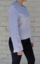 Giorgio Armani Black Label Raise Stripe Silver Grey Jacket Womens 38 Italy image 4