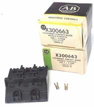 LOT OF 2 NIB ALLEN BRADLEY X300663 STATIONARY CONTACT BLOCKS SER. K SIZE 1 image 1