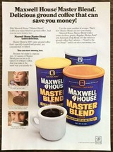 1981 Maxwell House Master Blend Coffee Print Ad Saves You Money Same Scoops - $11.69