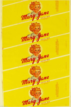 Vintage bread wrapper MARY JANE dated 1958 girl pictured Norfolk Virgini... - $9.99