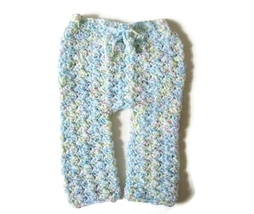 Newborn Pants, Crochet Baby Pants, Newborn Photo Prop, Baby Bottoms, Bab... - $14.00