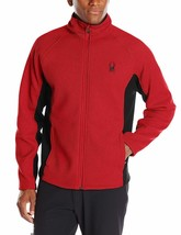 Spyder Mens Constant Full Zip Mid Weight Jacket Red/Black Choose Size - $99.99