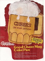 Wilton Cake Pan: Good Cheer Mug/Beer Mug (502-3965, 1984) - $39.95