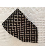 """Pierre Cardin Necktie Checkered & Stripe Tie Silk Tie 58"""" x 3.75"""" NWT - $7.50"""