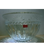"Cristal D' Arques ""Carthage "" Crystal Bowl 9 3/8  "" Diameter - $22.99"