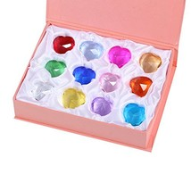 Duosuny Mother's Day Special: 30mm Glass heart Diamond Paperweight Birth... - $22.44
