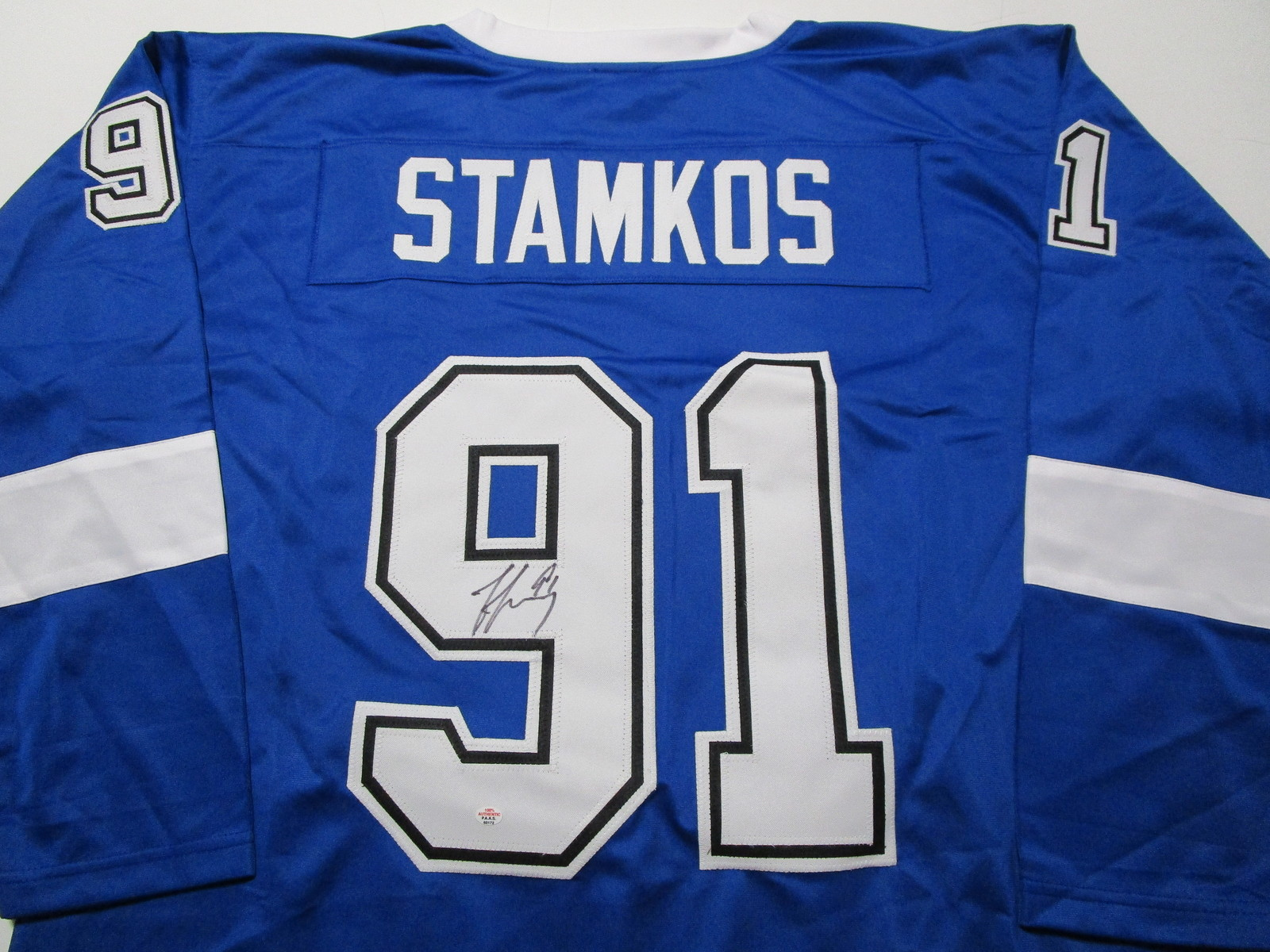 STEVEN STAMKOS / TAMPA BAY LIGHTING / AUTOGRAPHED CUSTOM HOCKEY JERSEY / COA