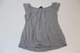 W12840 Womens Express Gray Short Butterfly Sleeve Blouson Shirt Blouse Sml - $11.65
