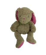 Carters Prestige Bunny Rabbit Brown Pink Ears Green Bow Plush Sewn Eyes ... - $19.75
