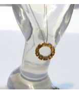 """Orange Mexican Fire Opal Oval Eternity Pendant w/ 20""""L Chain, Silver, 1.... - $45.00"""