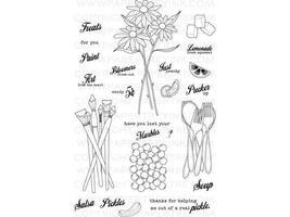 Paper Trey Ink Friendship Jar Fillers Clear Cling Stamp Set #2245