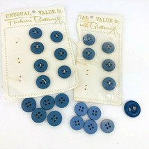 Vintage 60s Unusual Value in Fashion Button Blue Jean 4 Hole Lot  23 - $13.85