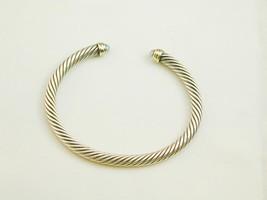 David Yurman Sterling 14k Blue Topaz Cable Cuff Bracelet ESTATE - $350.00