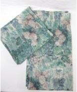 Laura Ashley Ashbourne Floral 2-PC 96 x 43 Semi-Sheer Cafe/Tier Drapery ... - $38.00