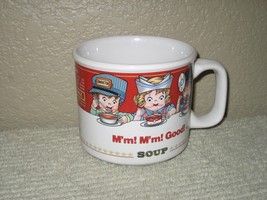 Campbell's Original Soup Mug Bowl Coffee Cup Kids M'm! M'm! Good! 1997 W... - $7.87