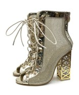 Sexy New Summer Sandals Sexy Gold Bling Gladiator Women Pumps Shoes Lace... - $39.99