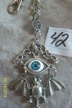 # purse jewelry Halloween Evil Eye keychain backpack filigree dangle charm #42 image 3